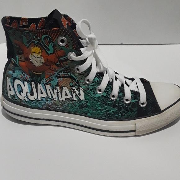 Aquaman Converse Allstar Mid Sneakers